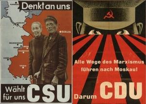 Wahlplakate 1954 CDU und CSU