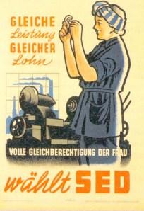 SED Wahlplakat um 1960