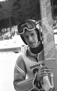 Jens Weißflog bei DDR-Skimeisterschaften 89