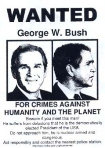 Anti Bush Plakat