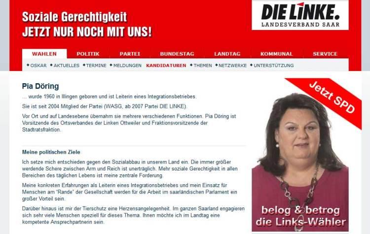 Pia Doering belog ihre Waehler