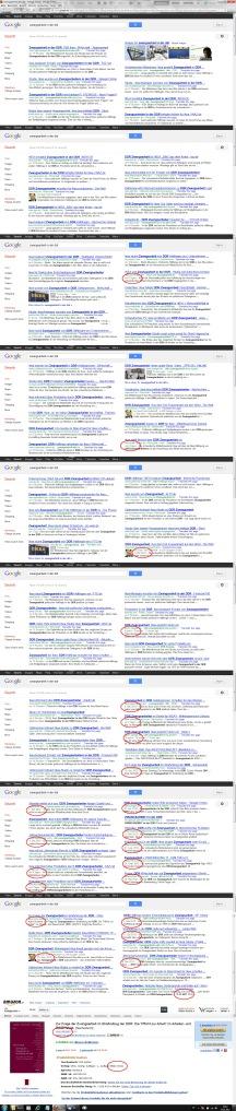 Google suche nach Zwangsarbeit in DDR