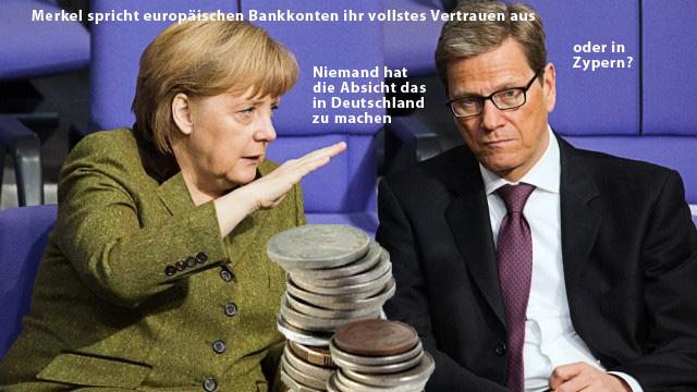 Angela Merkel hat vollstes Vertrauen in die Bank
