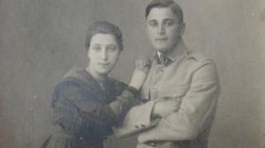 In der Uniform der Haller-Armee: Ludwig Kazmierczak und seine Frau Margarethe