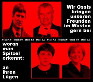 Wir Ossis zeigen euch gern woran man Spitzel erkennt - an ihren Lügen