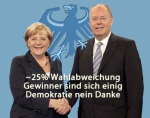 Die Große Koalition: Wahlfälscher unter sich