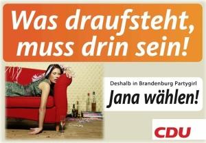 Partymaus Jana Schimke für die CDU