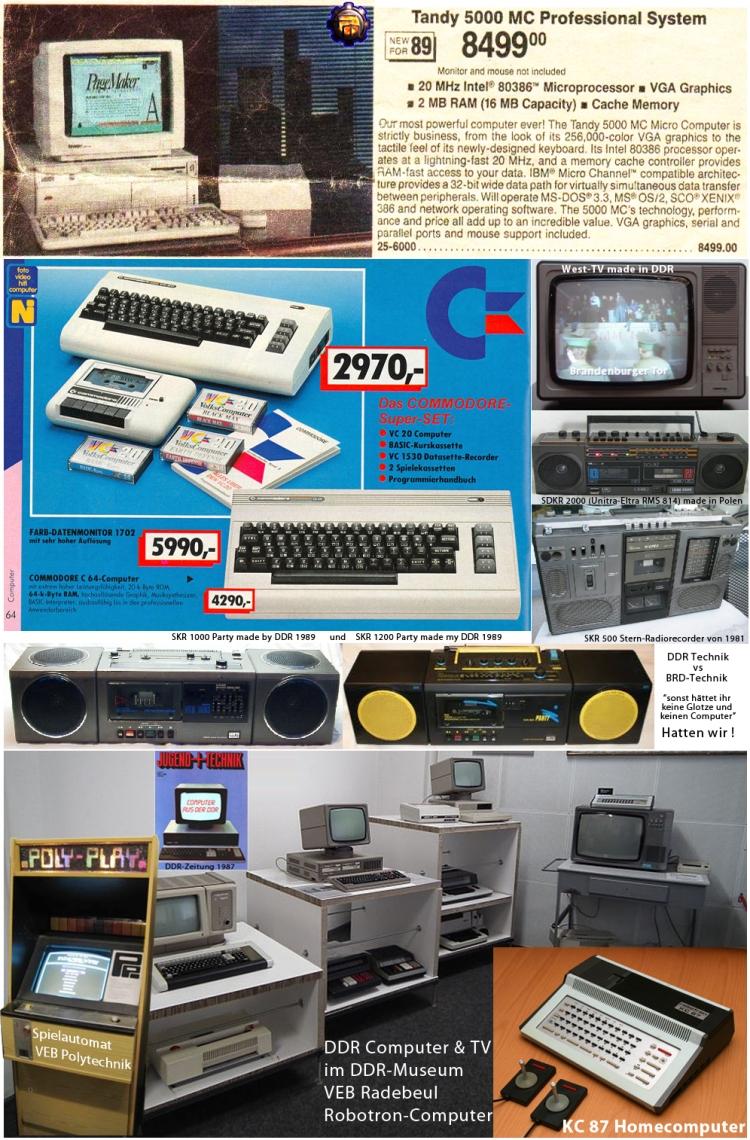 Computer & TV Technik der 80iger Jahre Ost und West