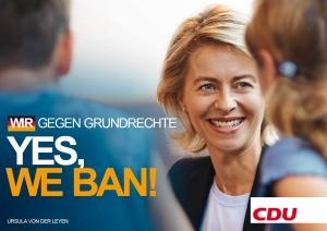 Yes, we ban - CDU
