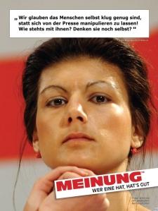 Sahra Wagenknecht - Meinung - wer eine hat