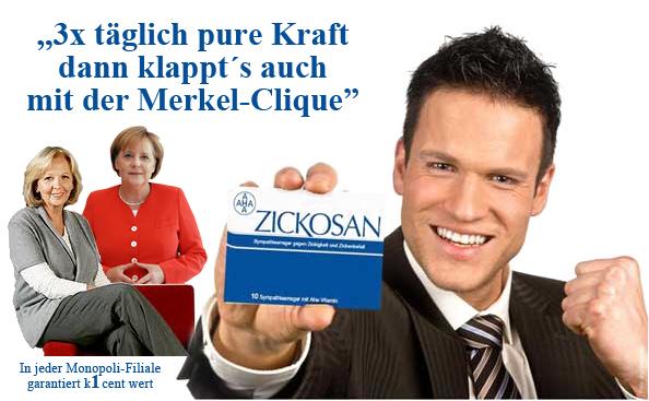 3x täglich pure Kraft dann klappts auch mit der Merkel-Clique