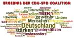 """Resultat des Koalitionsvertrages von SPD und CDU 2013 eins kommt darin nicht vor """"sozial"""""""