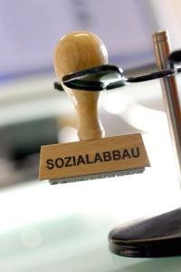 Sozialabbau - Stempel, Symbolbild