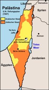 Israel nach dem UN Teilungsplan von 1947