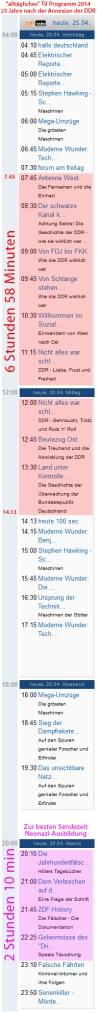 Ein ganz normales TV Programm, 7 Stunden DDR-Hetze + 2 Stunden Nazi-Nachwuchs-Ausbildung
