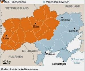 letzte wahlergebnisse Praesident der Ukraine
