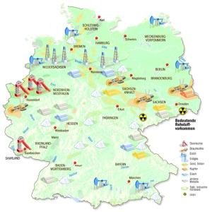 Rohstoffe in Ostdeutschland