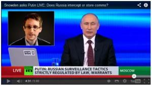 Snowden befragt Putin