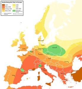 Ausbreitung der Pest 1347-1351