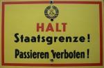 Grenzschild der DDR
