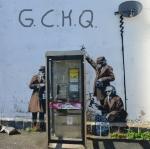 Barnsky für die Telefonzelle vor der GCHQ (brit. Geheimdienst) Zentrale