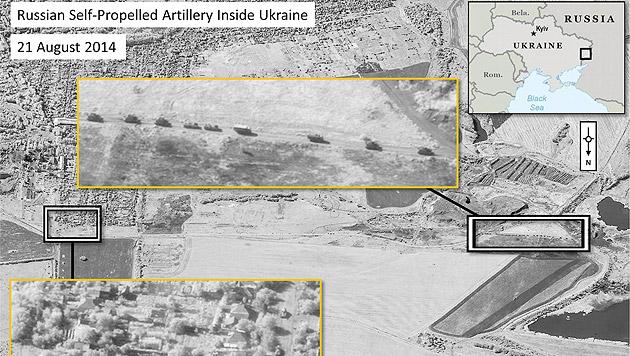 NATO-Fotos sollen russische Panzer zeigen