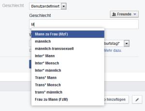 Facebook Genderwahn