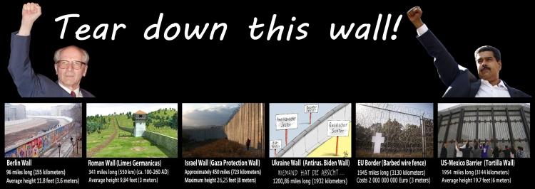 The Wall, die Mauer, Niemand hat die Absicht eine Mauer zu errichten
