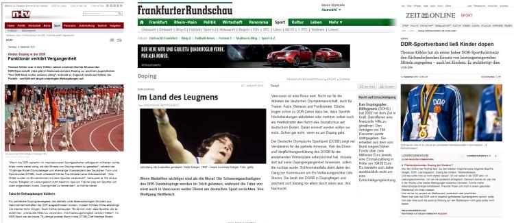 Doping - Hetze im Land der Lügner - Deutschland