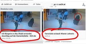 Medienmanipulation 2014, zwei Meldungen mit dem selben Bild