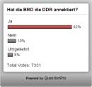 Parlamentarier geben Annexion der DDR durch BRDzu