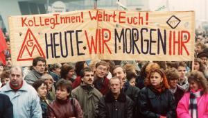 Demo gegen die Treuhand 1990