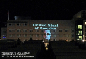 Protest gegen Spionage der NSA