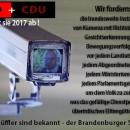CDU & SPD planen Totalüberwachung inBrandenburg